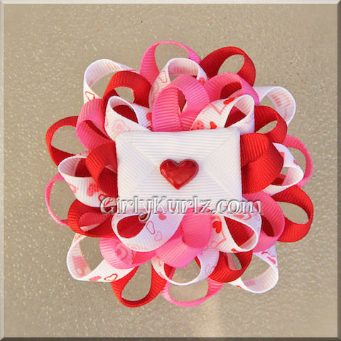 valentine hair bow
