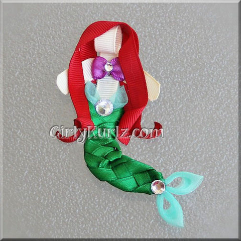 little mermaid hair clip