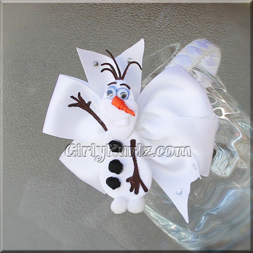 olaf headband hair bow