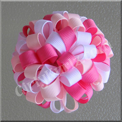 pink loopy hair bow