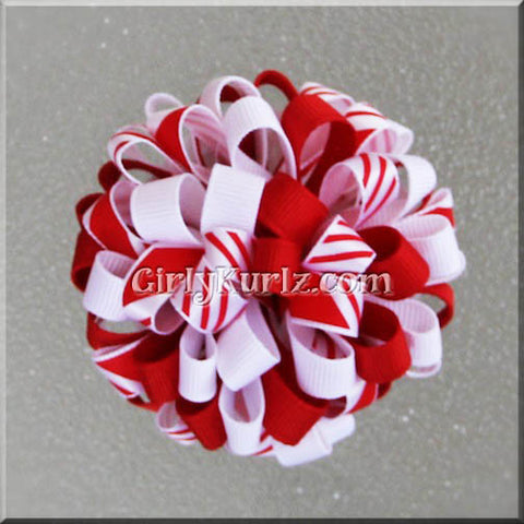 peppermint hair bows