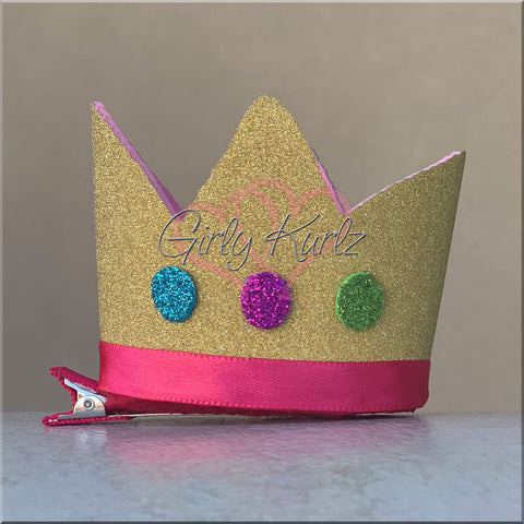 Peppa Pig Crown Hair Bow, Peppa Bow, Peppa Pig Clip