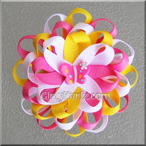 Pink Lemonade Loopy Hair Bow
