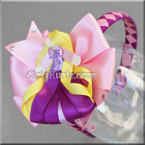 rapunzel headband hair bow