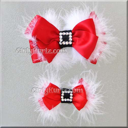 21357bef5b233 Santa Baby SM Layered Hair Bow – Girly Kurlz