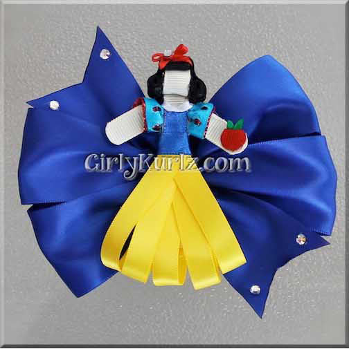 snow white hair bow