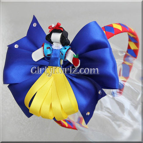 snow white headband hair bow