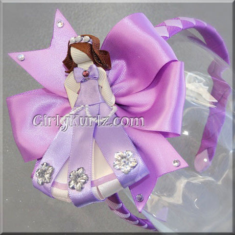 sofia the first headband hair bow
