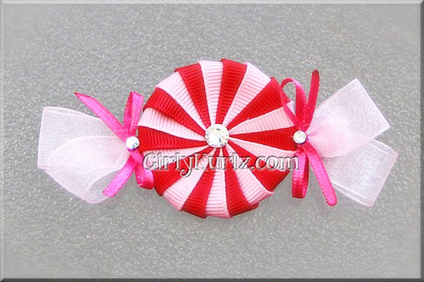 peppermint hair bow