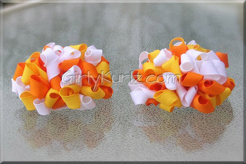 easter hair bow, halloween hair bow