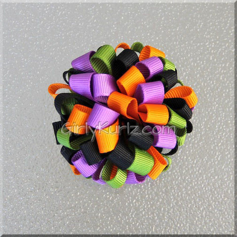 halloween loopy hair bow