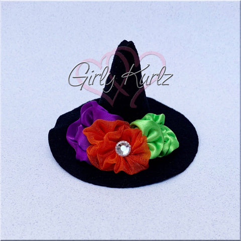 witch hat hair bow, halloween hair bow, witch hat