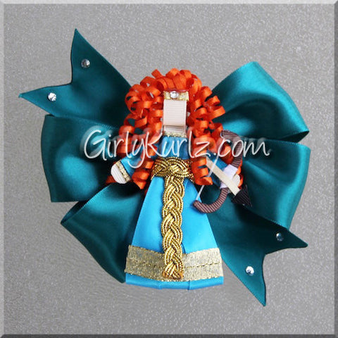 brave merida hair bow