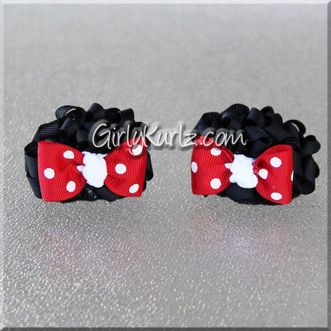 Minnie mouse ears hair bows
