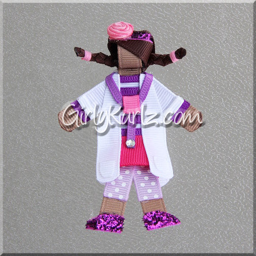 doc mcstuffins hair bow headband ribbon sculpture