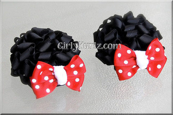 minnie mouse ear hair bows
