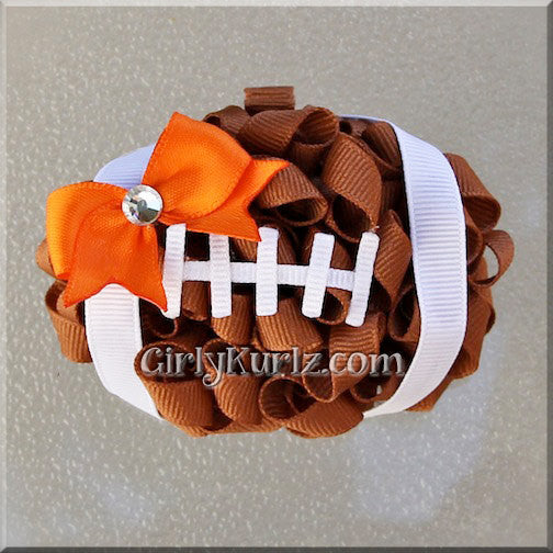 football hair bow