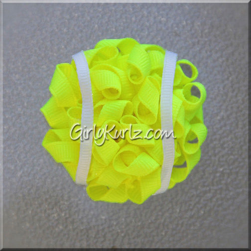 tennis hair bow, hair accessories