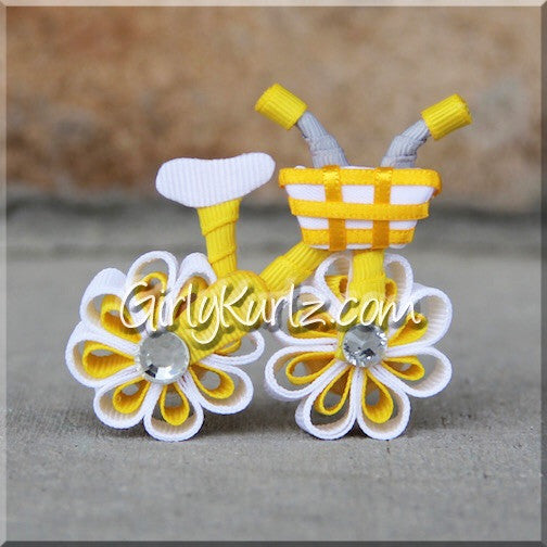 YELLOW Bicycle Hair Bow