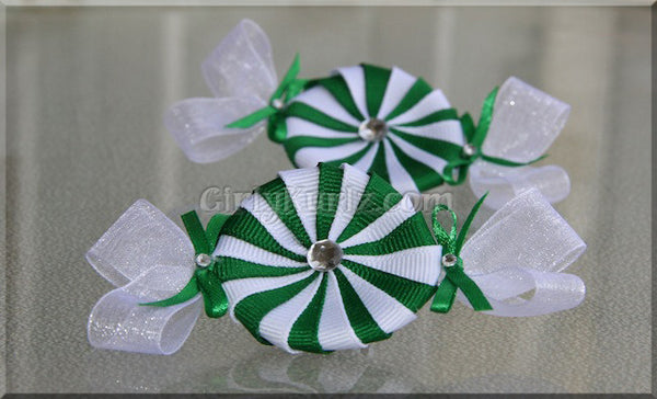 peppermint candy hair clips