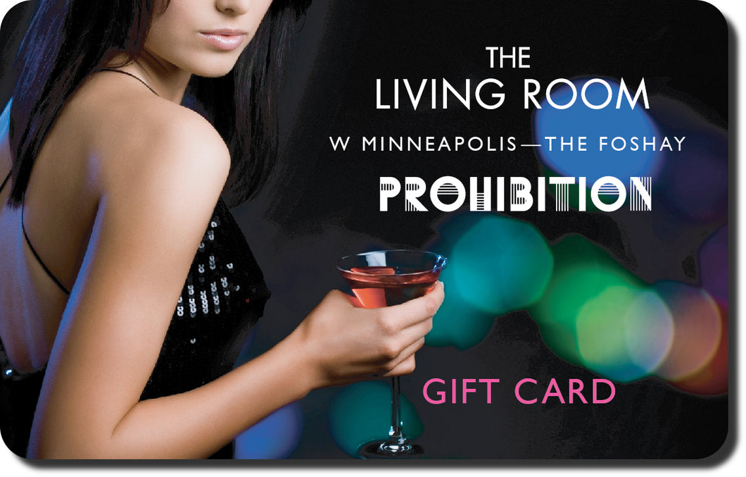 Living Room & Prohibition Bars Gift Card