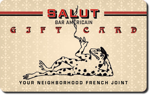 Salut Bar Americain Gift Card