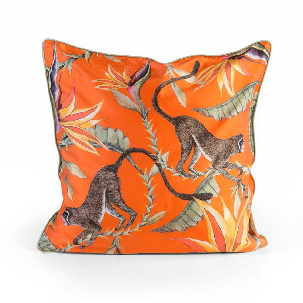 Ngala Trading Company Monkey Paradise Silk Throw Pillow - 1 Each