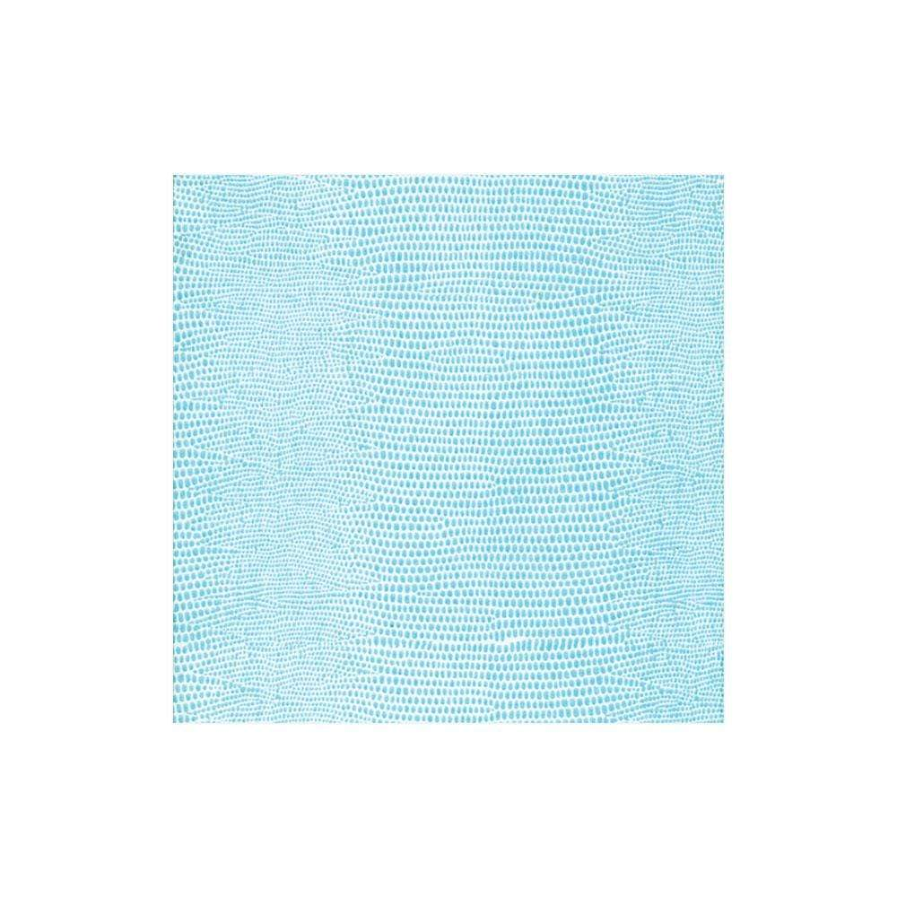 Caspari Lizard Paper Linen Cocktail Napkins in Turquoise - 15 Per Package