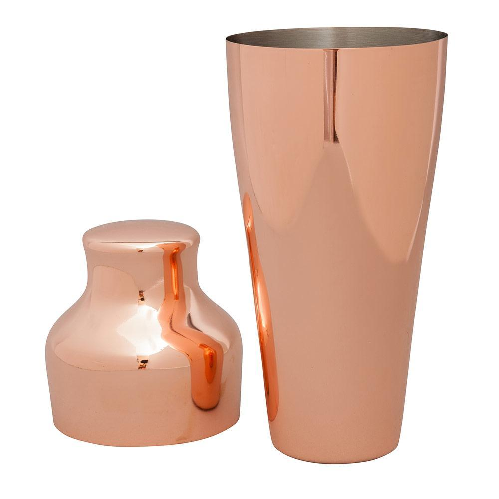 Beaumont Barware Beaumont Barware Art Deco Copper-Plated Cocktail Shaker