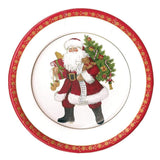 Caspari Lynn Haney Santa Paper Dinner Plates - 8 Per Package