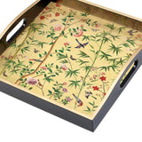 Caspari Chinese Wallpaper Lacquer Square Tray - 1 Each