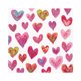 Caspari Happy Hearts Paper Luncheon Napkins in Ivory - 20 Per Package