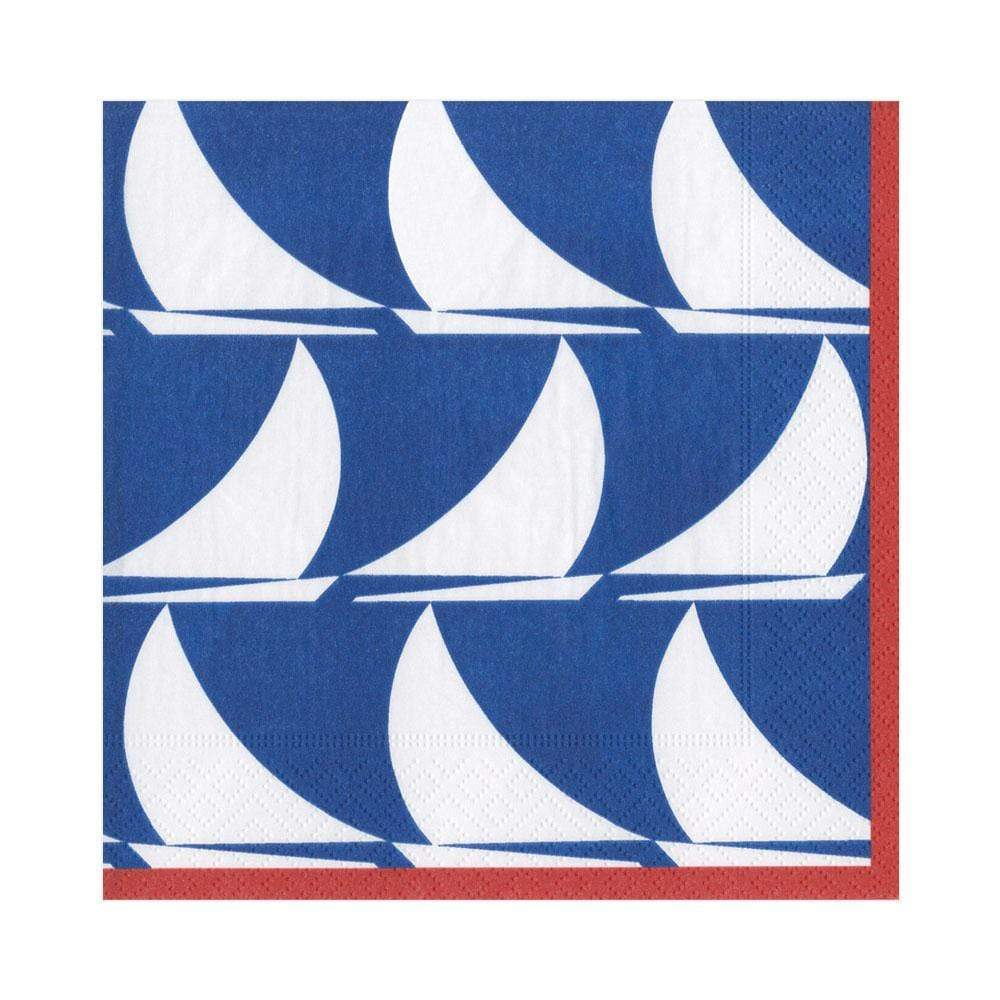Caspari Sail Away Paper Luncheon Napkins in Navy - 20 Per Package