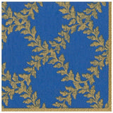 Caspari Acanthus Trellis Paper Dinner Napkins in Blue - 20 Per Package
