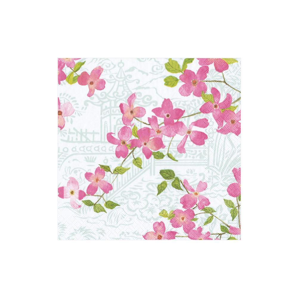 Blossoming Branches Paper Cocktail Napkins - 20 Per Package