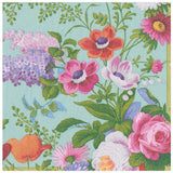 Caspari Edwardian Garden Paper Dinner Napkins in Robin's Egg - 20 Per Package