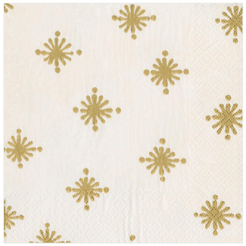 Caspari Starry Paper Dinner Napkins in Ivory - 20 Per Package
