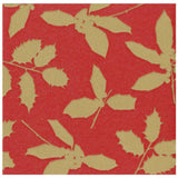 Caspari Holly Silhouettes Paper Linen Dinner Napkins in Red - 12 Per Package
