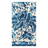 Caspari Plantation Print Paper Guest Towel Napkins in Indigo - 15 Per Package