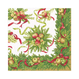 Caspari Apples and Greenery Paper Luncheon Napkins - 20 Per Package