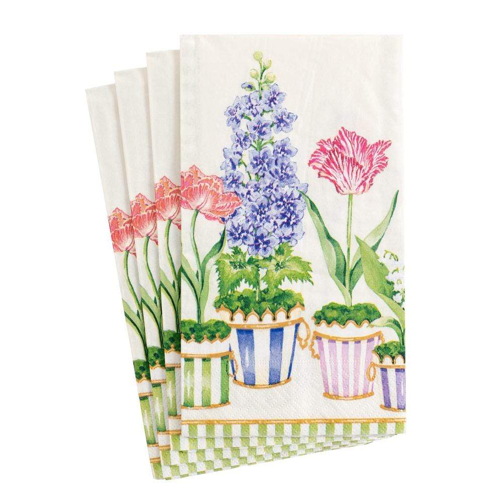 Caspari Window Garden Paper Guest Towel Napkins - 15 Per Package 16370G