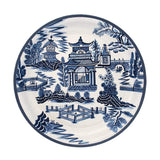 Habitat Intl Blue Pagoda Hand-Painted Iron Tole Tray & Tabletop