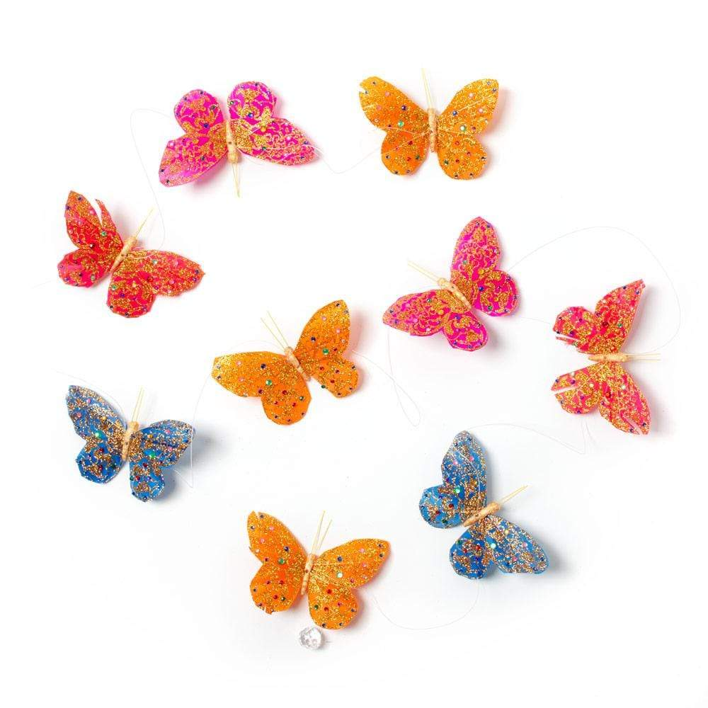 "World Buyers Butterfly Garland in Fall Royal, 78"" - 1 Each"