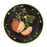Habitat Intl Brookshaw Melon Hand-Painted Iron Tole Tray & Tabletop
