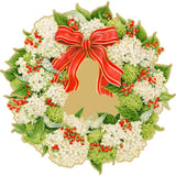 Caspari Hydrangea Wreath Die-Cut Placemat - 1 Per Package