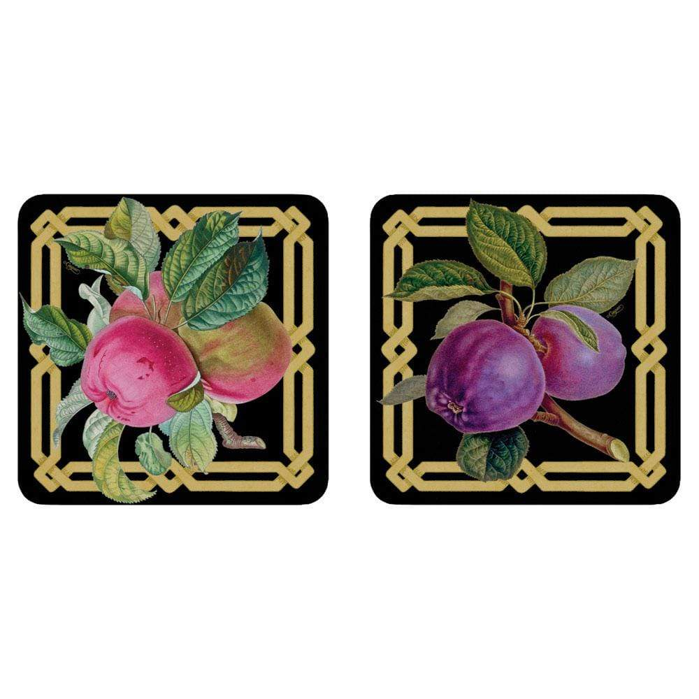 Caspari Découpage Garden Die-Cut Coasters in Pink & Purple - 4 Per Package