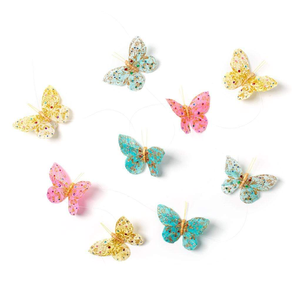 "World Buyers Butterfly Garland in Jewels and Glitter, 78"" - 1 Each"
