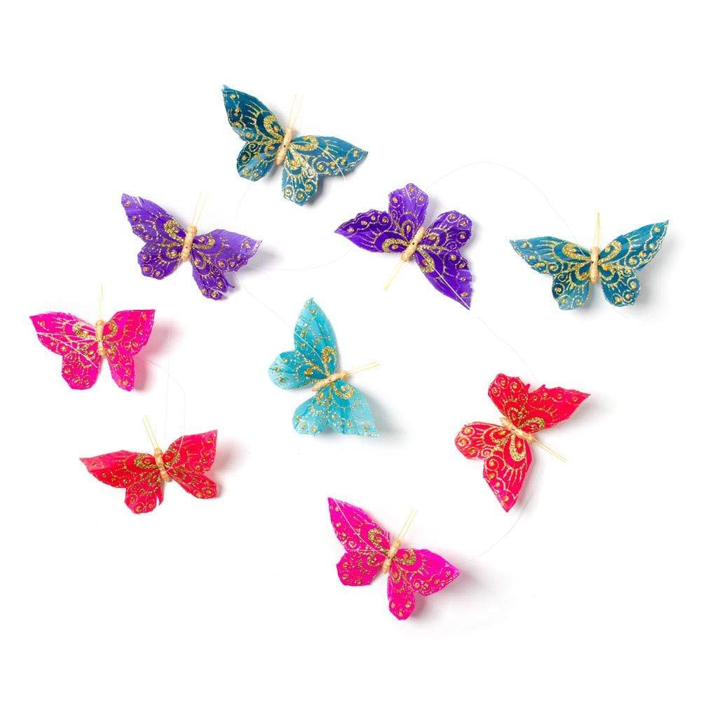 "World Buyers Butterfly Garland in Jewel Tones, 78"" - 1 Each"