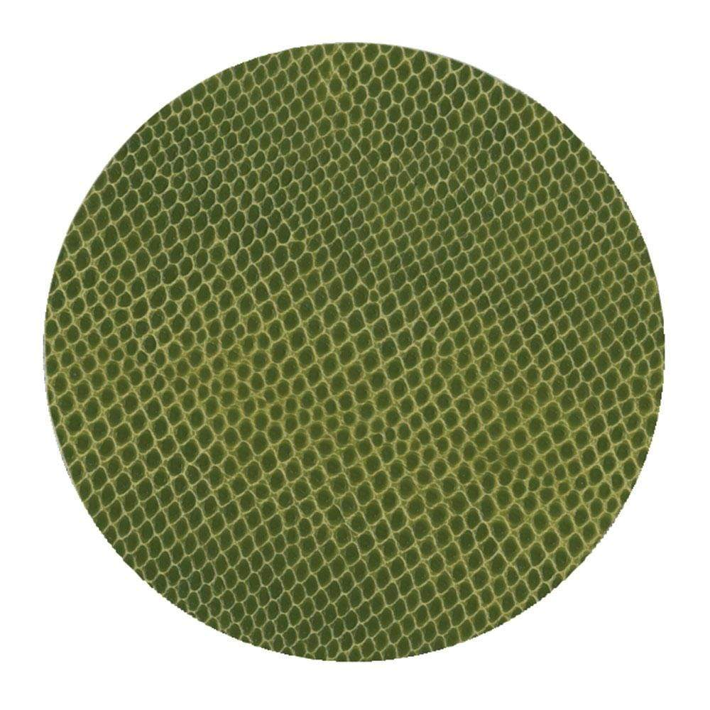 Caspari Snakeskin Felt-Backed Coasters in Evergreen - 8 Per Box