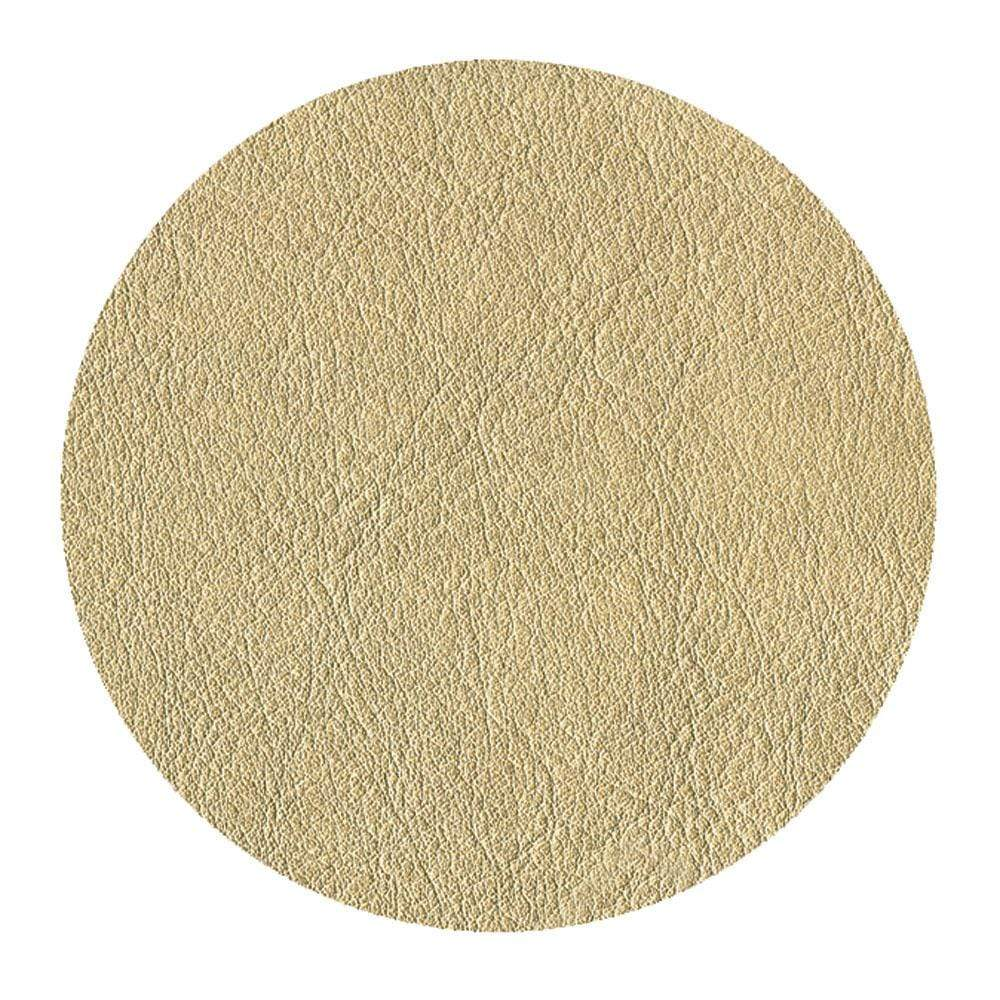 Caspari Leather Felt-Backed Coasters in Gold - 8 Per Box